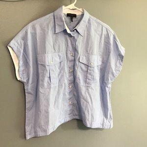Rag & Bone Boxy Button Up Shirt sz S